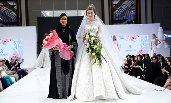 Renowned Emirati Designer Jamila Al Monsoor Introduced Her Latest Wedding Collection Flower Queen Of Love During The Dubai Show Held At