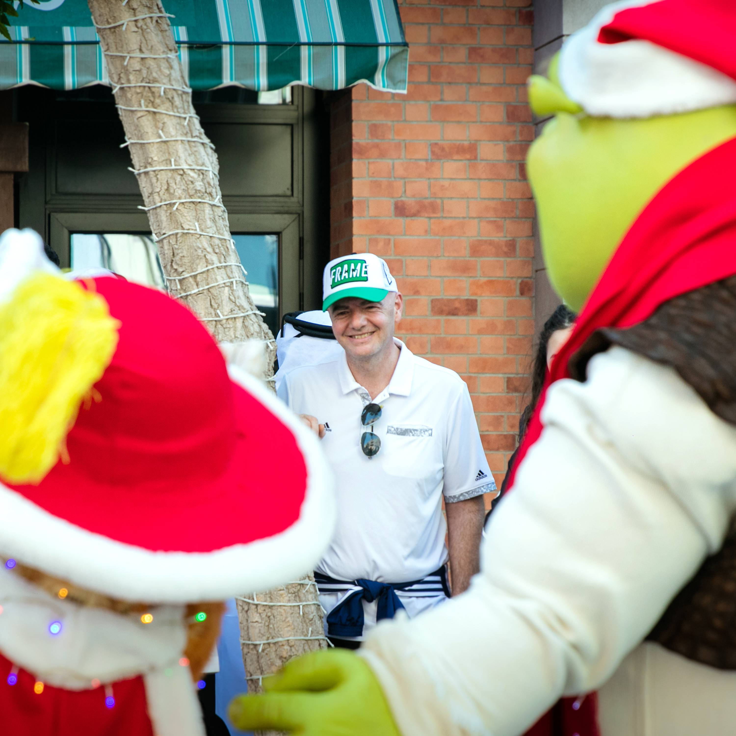 FIFA President Gianni Infantino visited Dubai Parks and Resorts